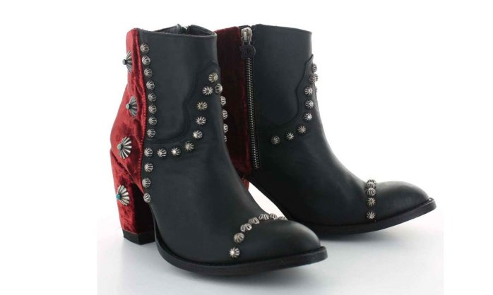 red velvet black studs booties old gringo double d ranch