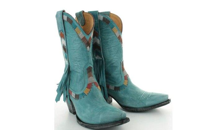 yippee ki yay old gringo blue western fringe boots
