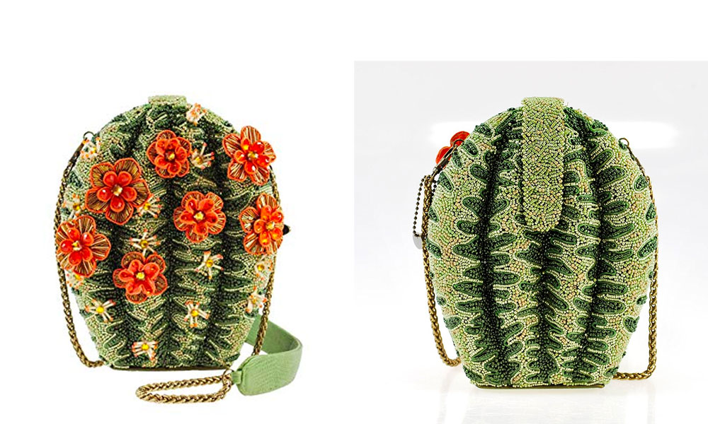 Mary Frances Desert Cactus Flower Beaded Bejeweled Handbag Shoulder Bag