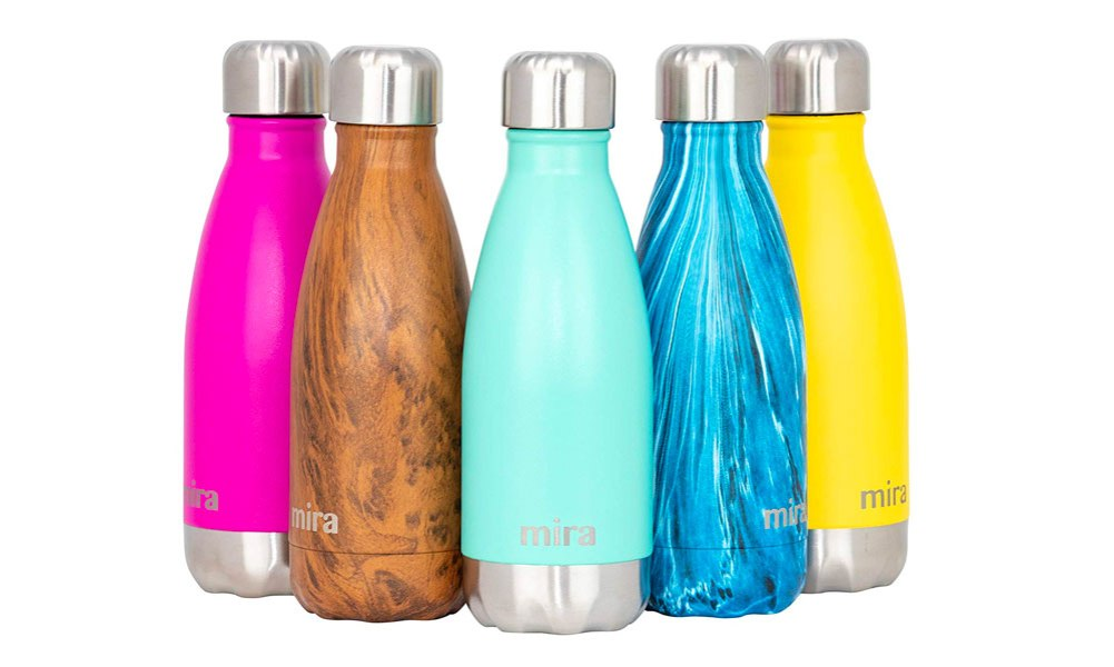 Mira 12 oz stainless steel vacuum insulated water bottle multi colors thermos reusable water bottle amazon